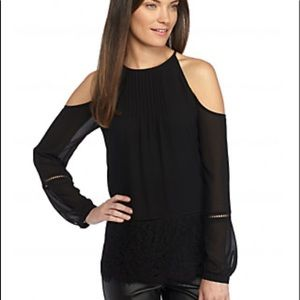 elegant black michael kors blouse